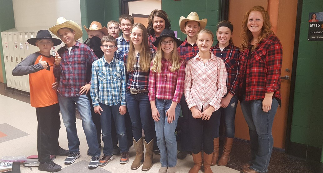 Western spirit day at the middle school