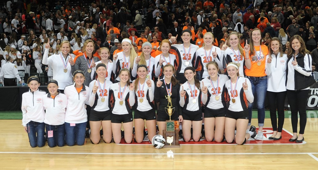 Lady Tigers Volleyball Team - State Champs