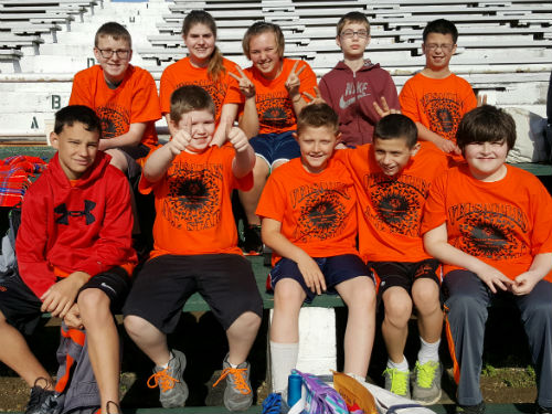 VERSAILLES MIDDLE SCHOOL STUDENTS AT SPECIAL OLYMPICS