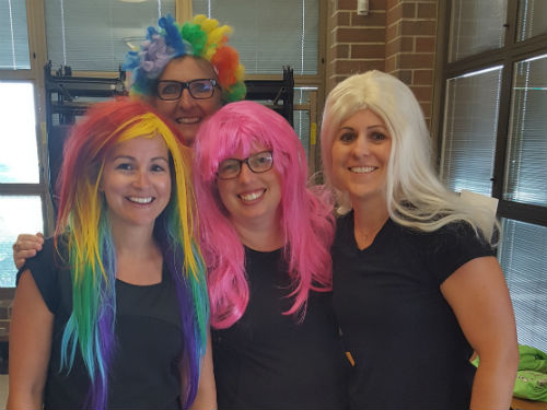 Teachers in costume for their debut