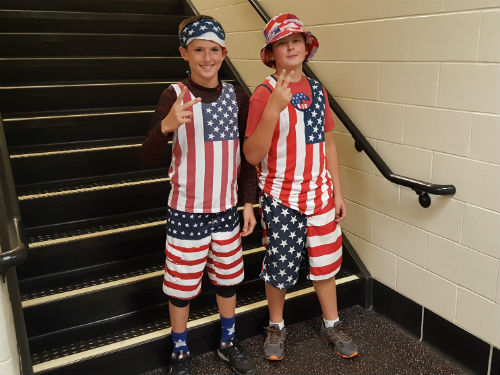 TODAYS SPIRIT DAY IS AMERICA