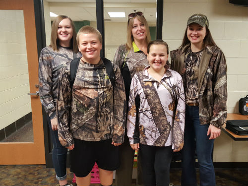 CAMO DAY IS A FAMILY AFFAIR AND MRS. TYO WHO FAMILY DRESSES UP