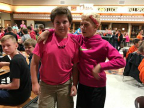 THESE TWO IN PINK - THANKS FOR SHOWING YOUR SPIRIT