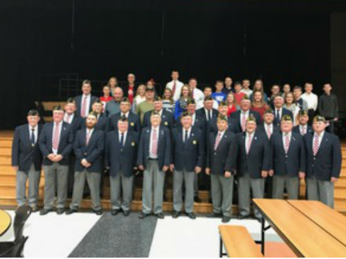 Our Veterans gathered for a photo