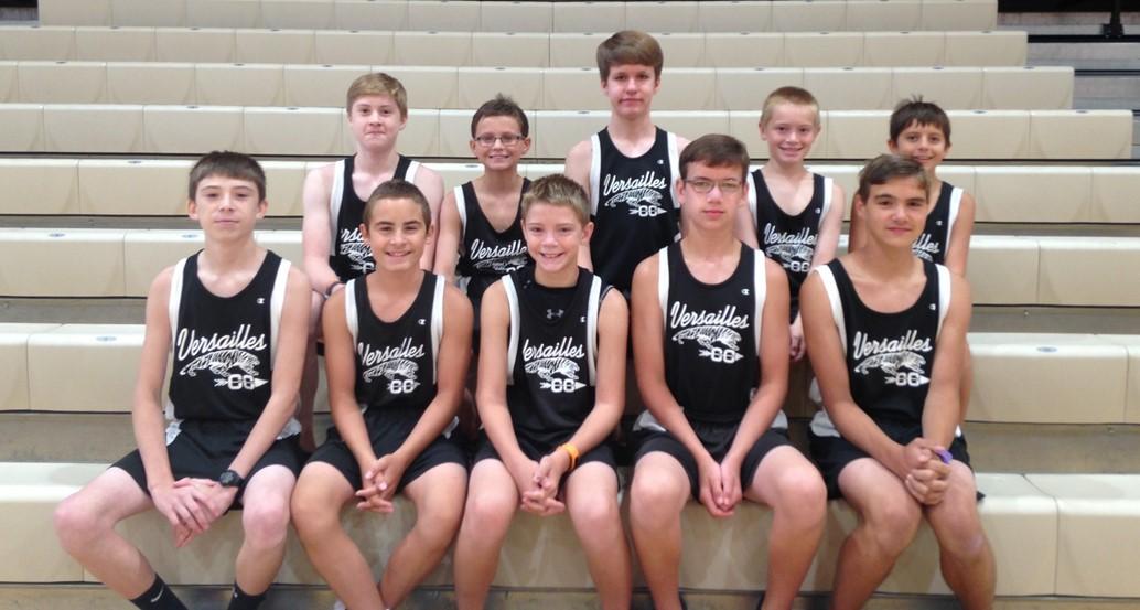 Jr High boys cross country team