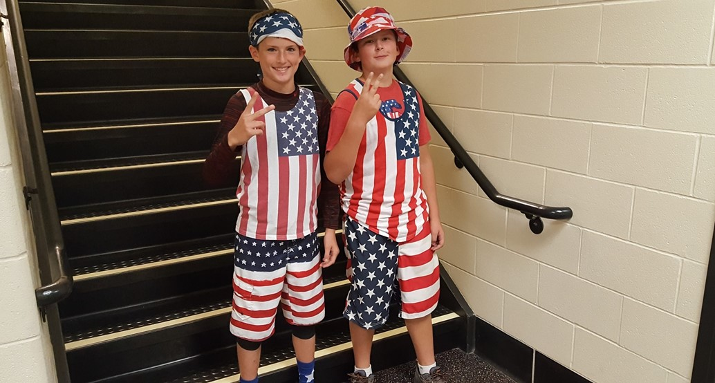 Student Council Red, white, and blue spirit day
