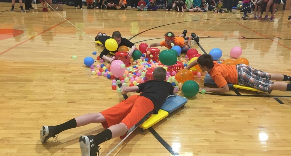 Hungry Hungry Hippo game during Get R.E.A.L. Week