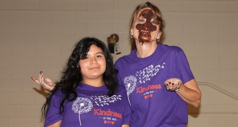 What? A cake in the face??