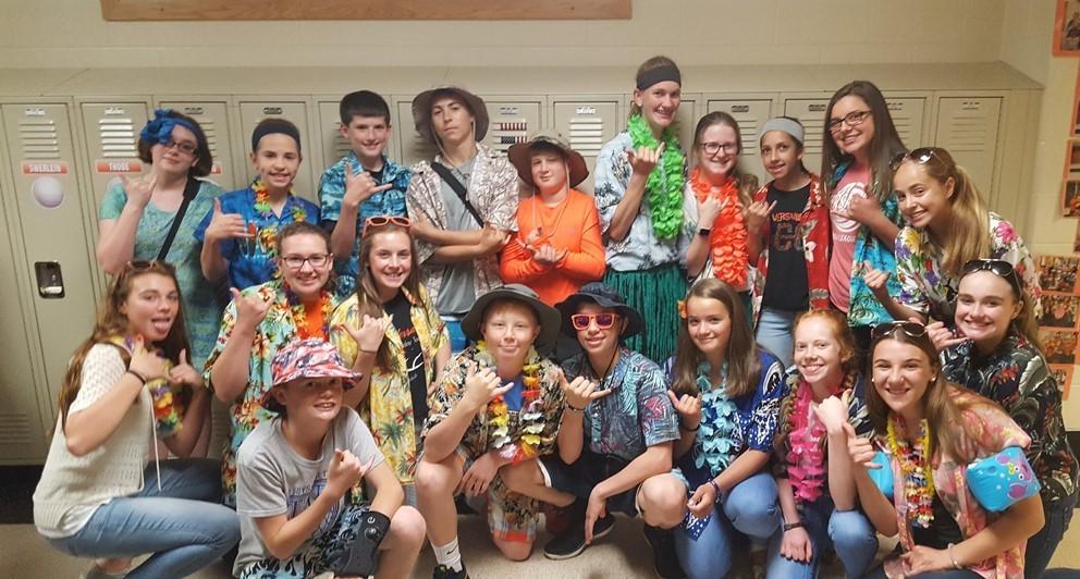 Hawaiian Day at VMS