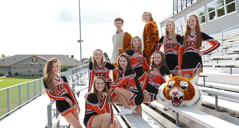 Varsity Football Cheerleaders & Mascots