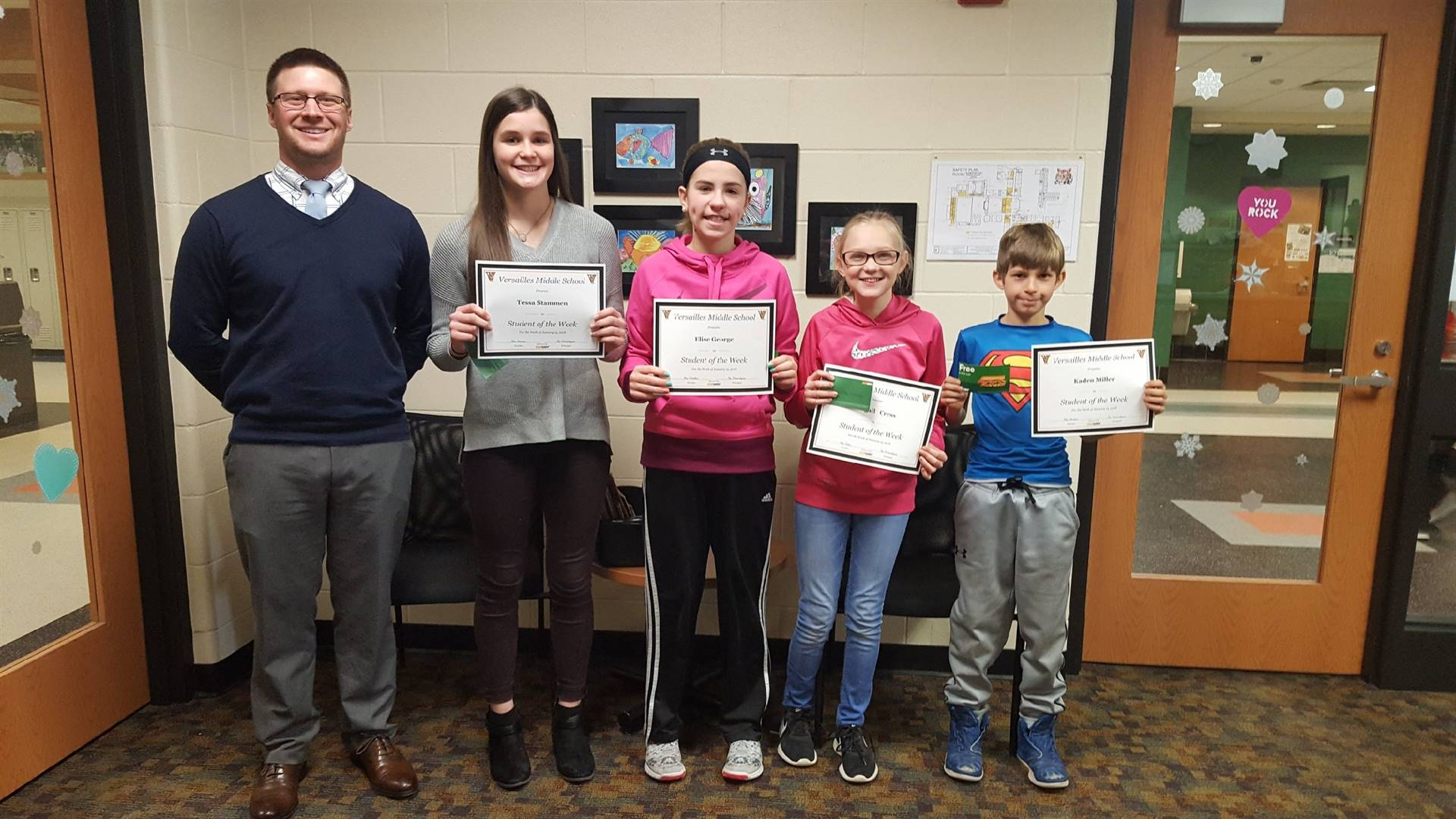 Students of the Week - Jan 12