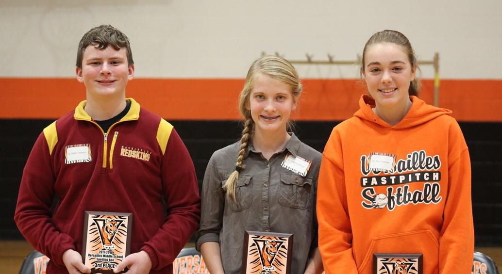 Middle School Spelling Bee Winners