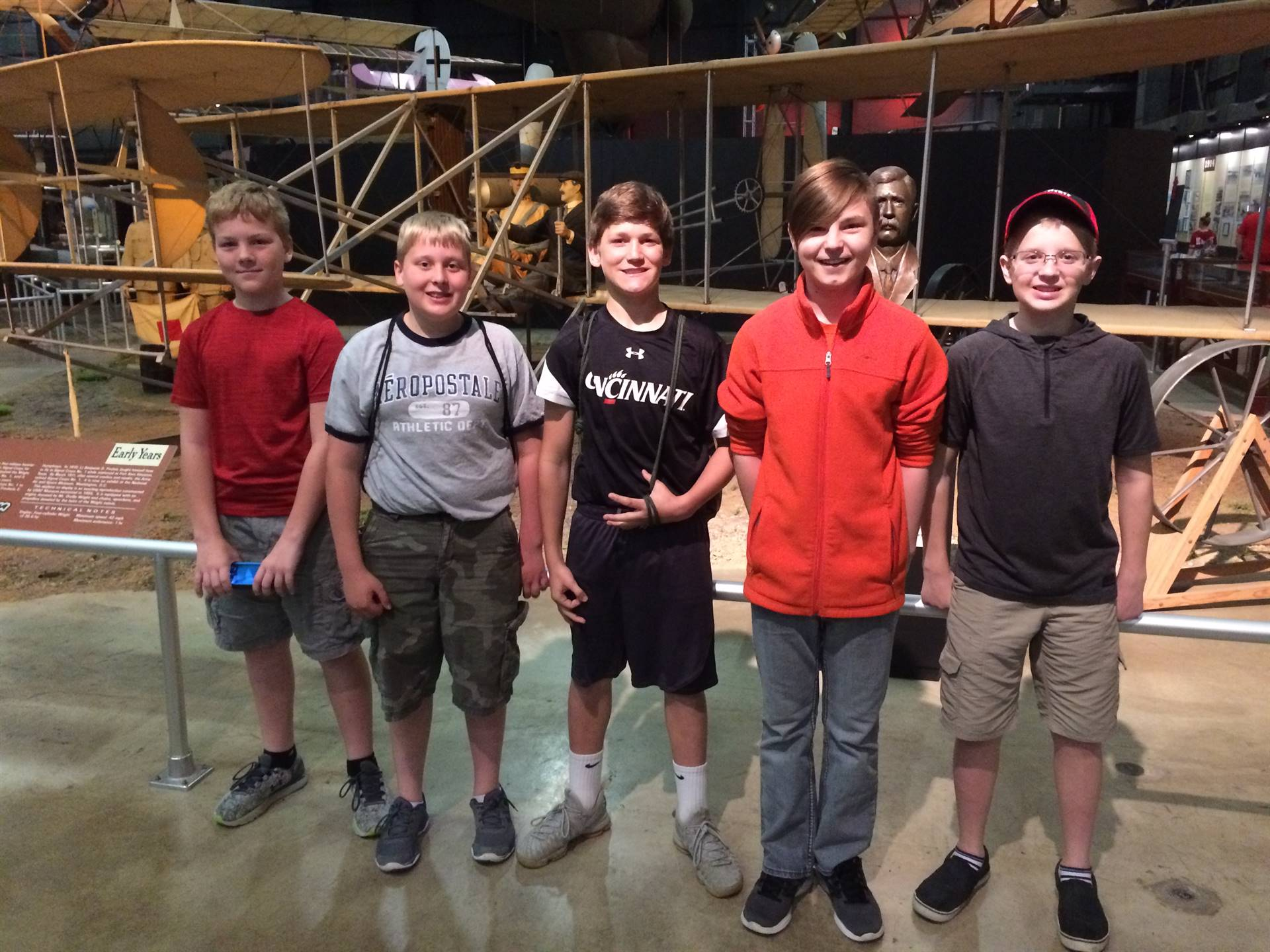 6th grade visits Air Force Museum