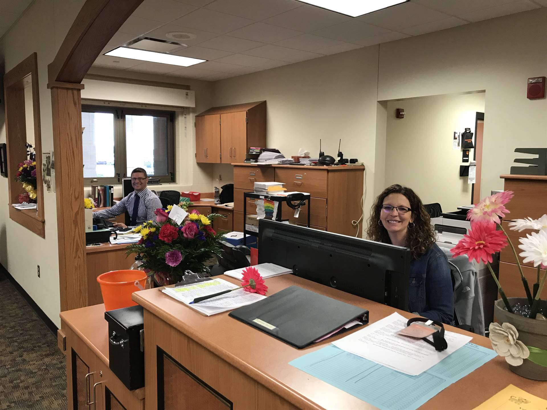 Principals take over the admin assistant duties