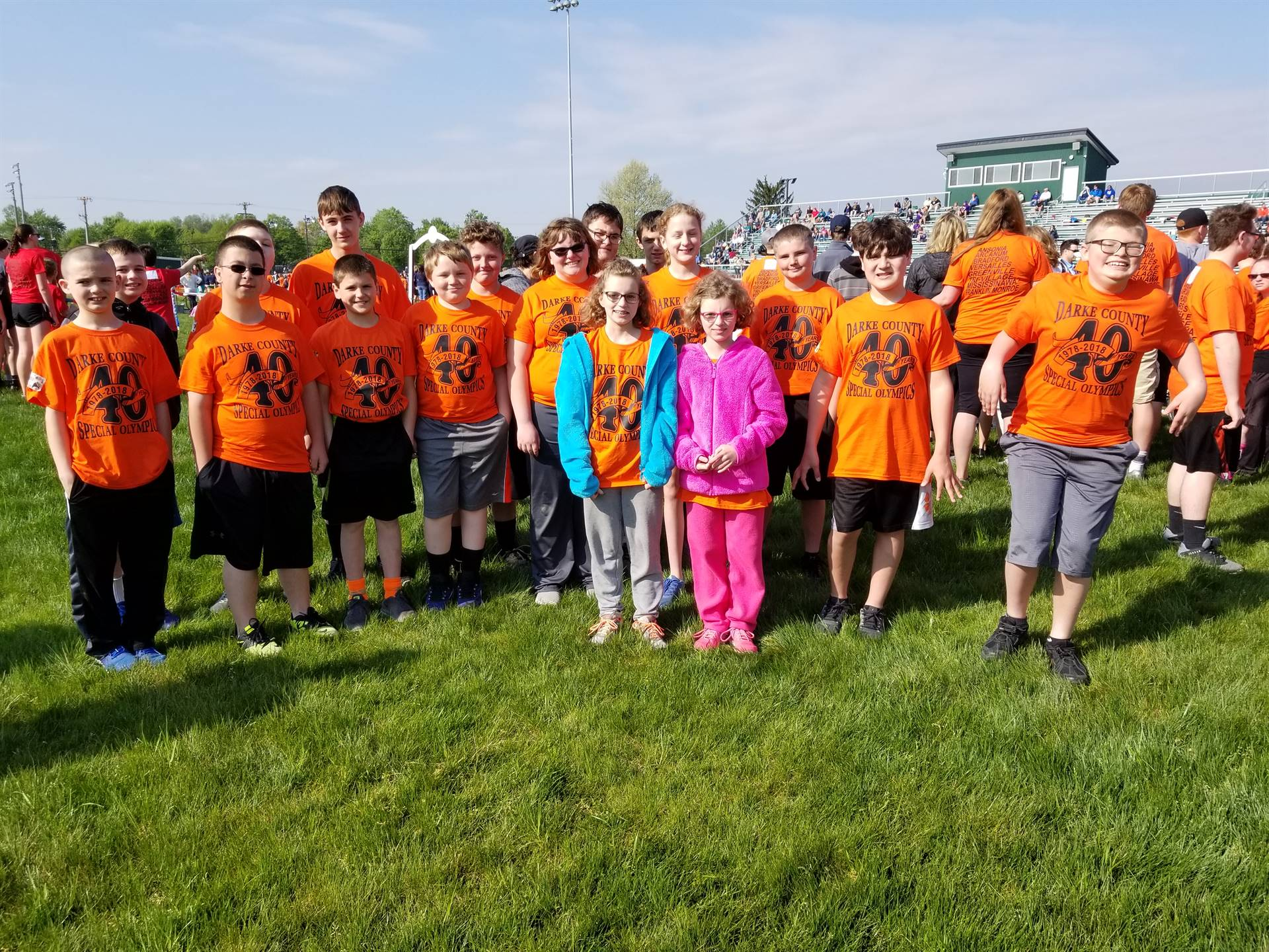 The crew at Special Olympics