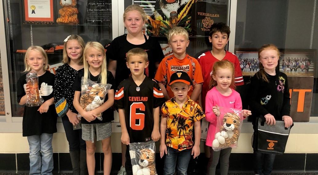 Tiger Pride Winners 10/4/19
