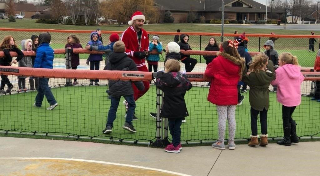 Santa Schmitmeyer at recess