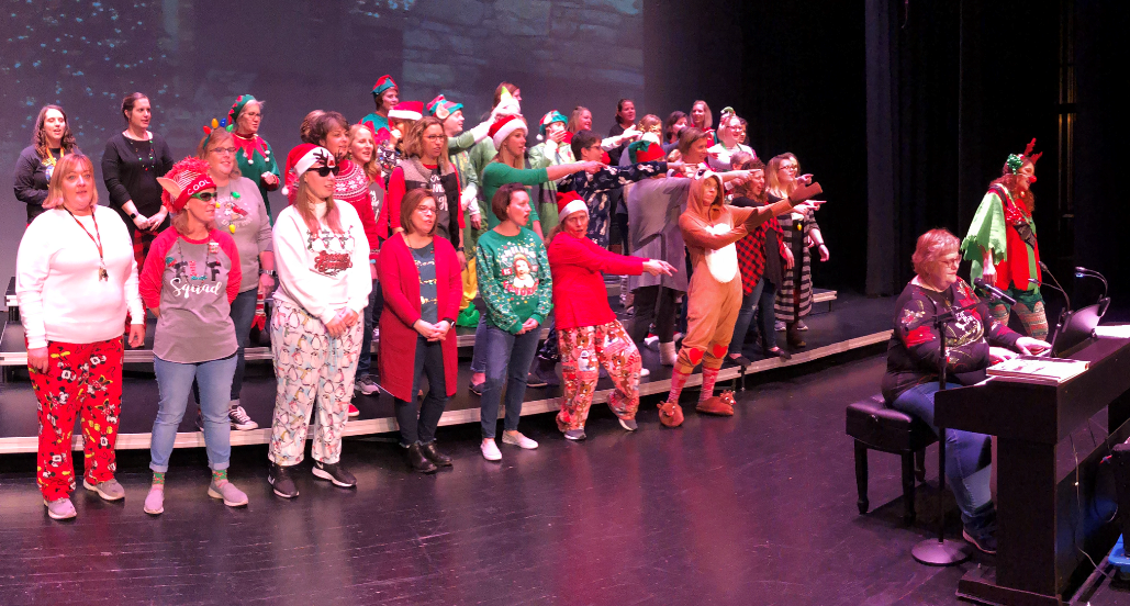 Elementary Staff At Christmas Carol