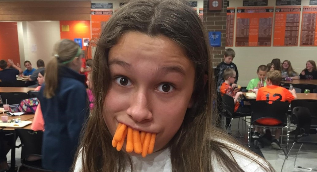 What else do you do with carrots at lunch time