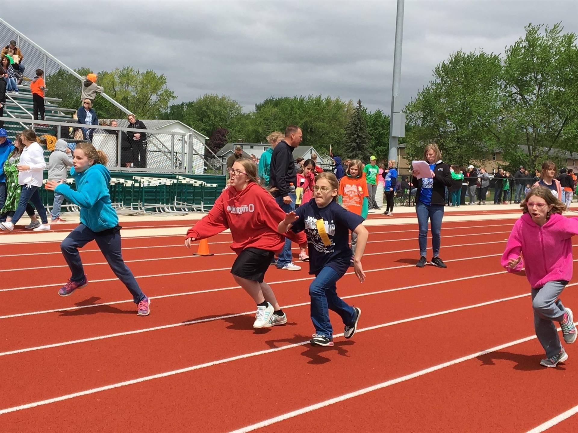 Special Olympics race