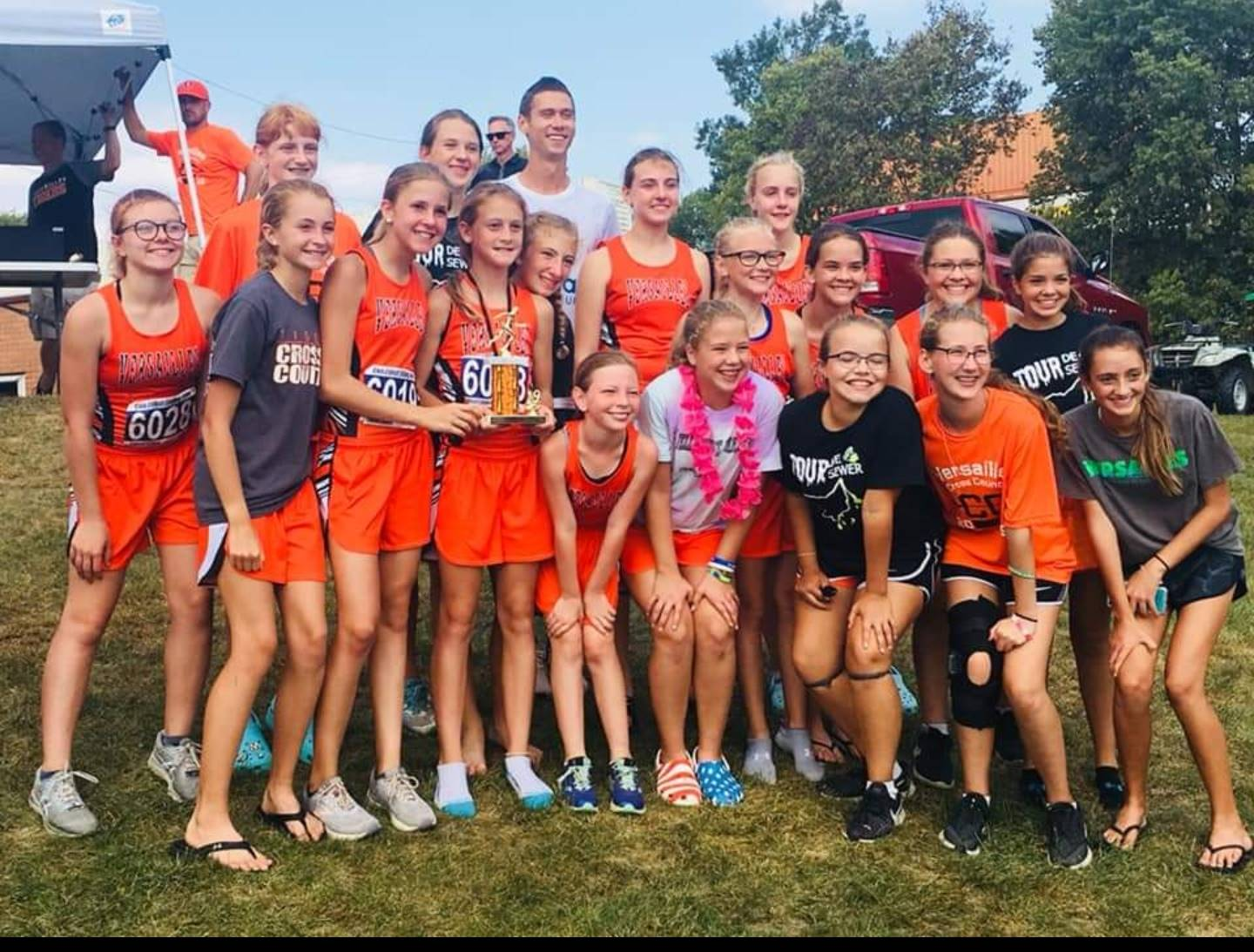 2nd place finish for jr. high girls cross country