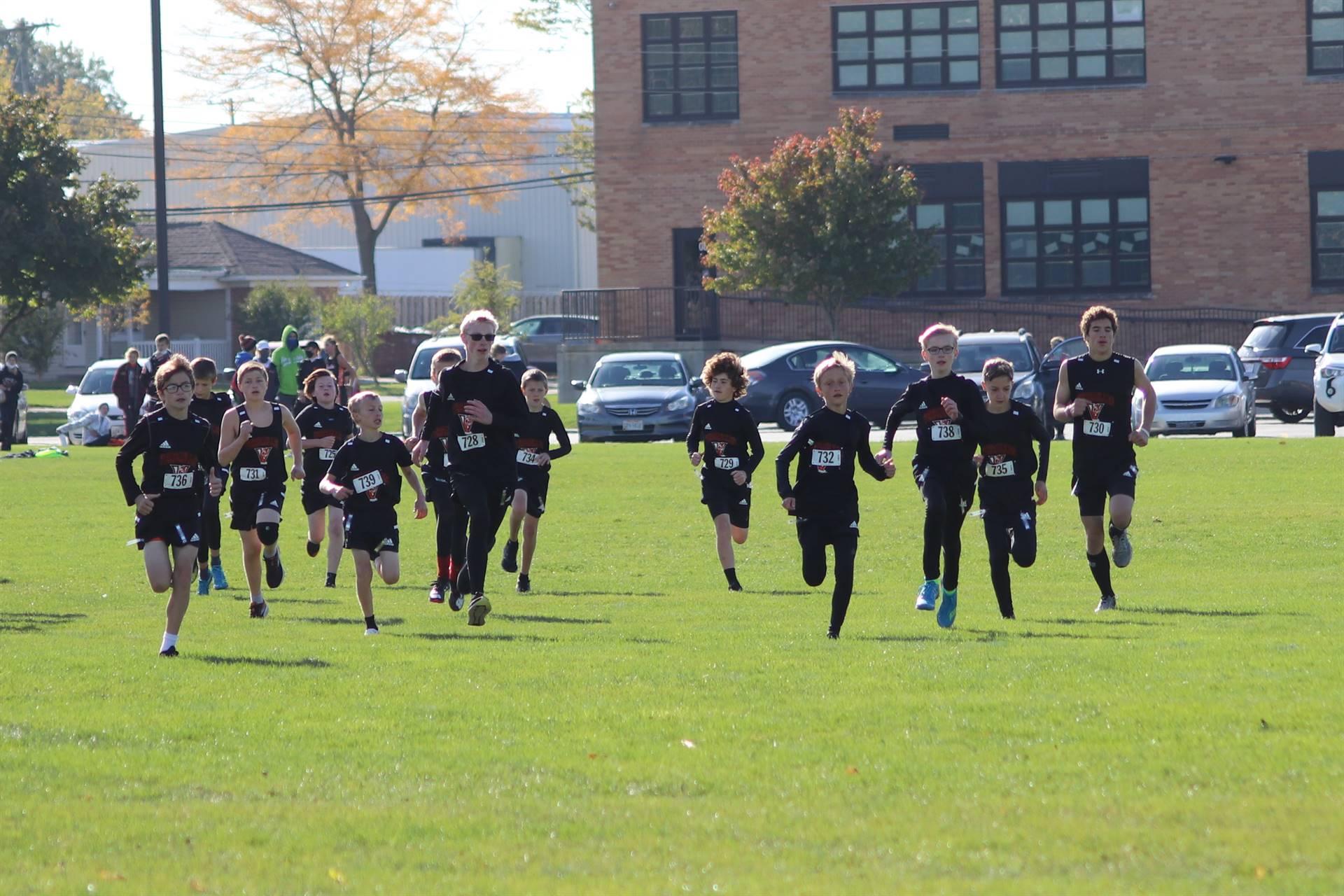 MAC cross country start for junior high boys