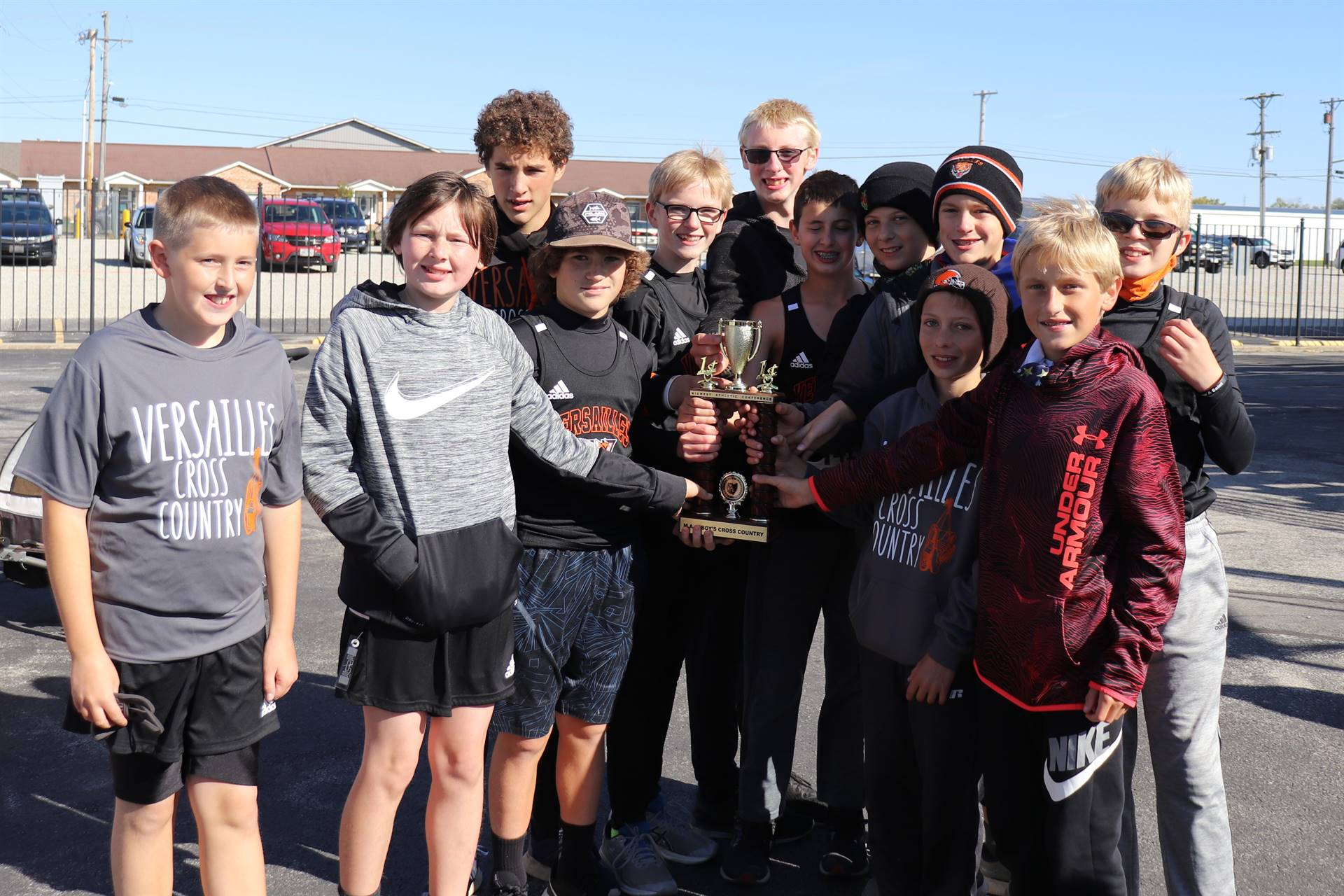 Jr. High boys after a MAC Cross Country victory