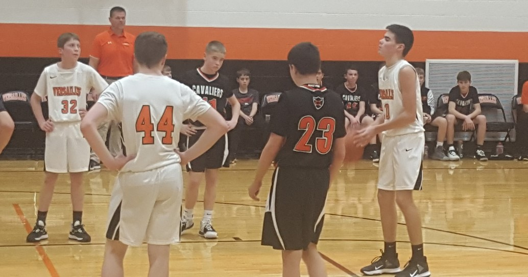 8th grade boys basketball against Coldwater